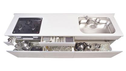 キッチン オリジナルキッチン エラーレ ERARE キャビネットプラン Sタイプ フロアユニット 大型スライド収納・包丁差し付