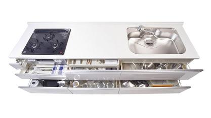 キッチン オリジナルキッチン エラーレ ERARE キャビネットプラン Wタイプ フロアユニット ホルダー型包丁収納インナースライド