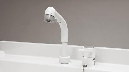 洗面台 Panasonic エムライン MLine 水栓 シングルレバーシャワー