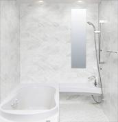 浴室 お風呂 LIXIL スパージュ CZタイプ 戸建て 壁パネル 組石ホワイト