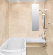 浴室 お風呂 LIXIL スパージュ CZタイプ 戸建て 壁パネル 組石ベージュ
