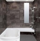 浴室 お風呂 LIXIL スパージュ CZタイプ 戸建て 壁パネル 組石グレー