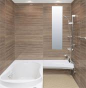 浴室 お風呂 LIXIL スパージュ CZタイプ 戸建て 壁パネル ウォールナット
