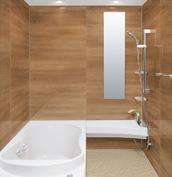 浴室 お風呂 LIXIL スパージュ CZタイプ 戸建て 壁パネル チェリー