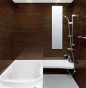 浴室 お風呂 LIXIL スパージュ CZタイプ 戸建て 壁パネル ウッドグレインダーク