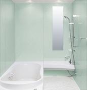 浴室 お風呂 LIXIL スパージュ CZタイプ 戸建て 壁パネル 青磁リーフ