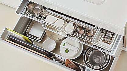 キッチン フロアユニット スライドストッカー