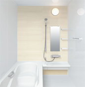 お風呂 浴室 LIXIL アライズ Zタイプ 戸建て 壁パネル ウッドグレインライト
