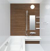 お風呂 浴室 LIXIL アライズ Zタイプ 戸建て 壁パネル ダークウォールナット