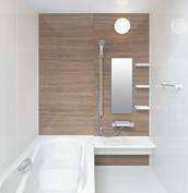お風呂 浴室 LIXIL アライズ Zタイプ 戸建て 壁パネル ウォールナット