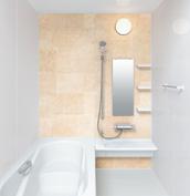 お風呂 浴室 LIXIL アライズ Zタイプ 戸建て 壁パネル 組石ベージュ