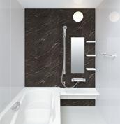 お風呂 浴室 LIXIL アライズ Zタイプ 戸建て 壁パネル ブラックストーン