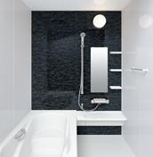 お風呂 浴室 LIXIL アライズ Zタイプ 戸建て 壁パネル ストーンモザイクダーク