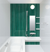 お風呂 浴室 LIXIL アライズ Zタイプ 戸建て 壁パネル ボトルグリーン