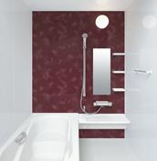 お風呂 浴室 LIXIL アライズ Zタイプ 戸建て 壁パネル レディッシュブラウン