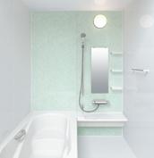 お風呂 浴室 LIXIL アライズ Zタイプ 戸建て 壁パネル 青磁リーフ