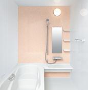 お風呂 浴室 LIXIL アライズ Zタイプ 戸建て 壁パネル ジュエルピンク