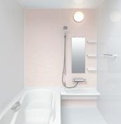 お風呂 浴室 LIXIL アライズ Zタイプ 戸建て 壁パネル  ウェーブピンク