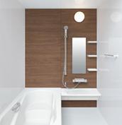 お風呂 浴室 LIXIL アライズ Zタイプ 戸建て 壁パネル クリエモカ