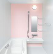 お風呂 浴室 LIXIL アライズ Zタイプ 戸建て 壁パネル ピンク