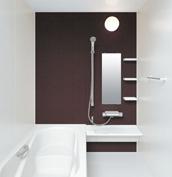 お風呂 浴室 LIXIL アライズ Zタイプ 戸建て 壁パネル ブラウン
