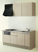 キッチン I型 クリナップ コルティ テーブルコンロタイプ Sシリーズ 扉カラー Y4N ペールウッド