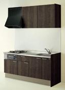 キッチン I型 クリナップ コルティ テーブルコンロタイプ Sシリーズ 扉カラー Y4Z チャコールウッド