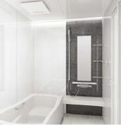 浴室 お風呂 タカラスタンダード プレデンシア 壁パネル SD ダークグレーストライプ