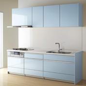 キッチン クリナップ STEDIA ステディア 基本プラン 扉カラー クリスタブルーグレー