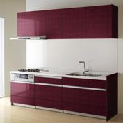 キッチン クリナップ STEDIA ステディア 基本プラン 扉カラー メリノバーガンディー