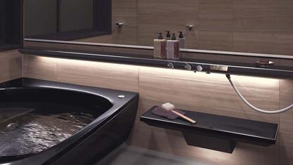 浴室 お風呂 ユニットバス バスルーム 戸建て TOTO SYNLA シンラ  Gタイプ 水栓 2WAYタッチ水栓 カウンター一体型