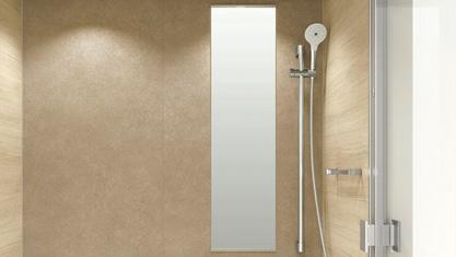 浴室 お風呂 ユニットバス バスルーム 戸建て TOTO SYNLA シンラ  Gタイプ ミラー お掃除ラクラク鏡 アルミフレーム付縦長ミラー