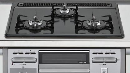 キッチン アレスタ 加熱機器 3口コンロ